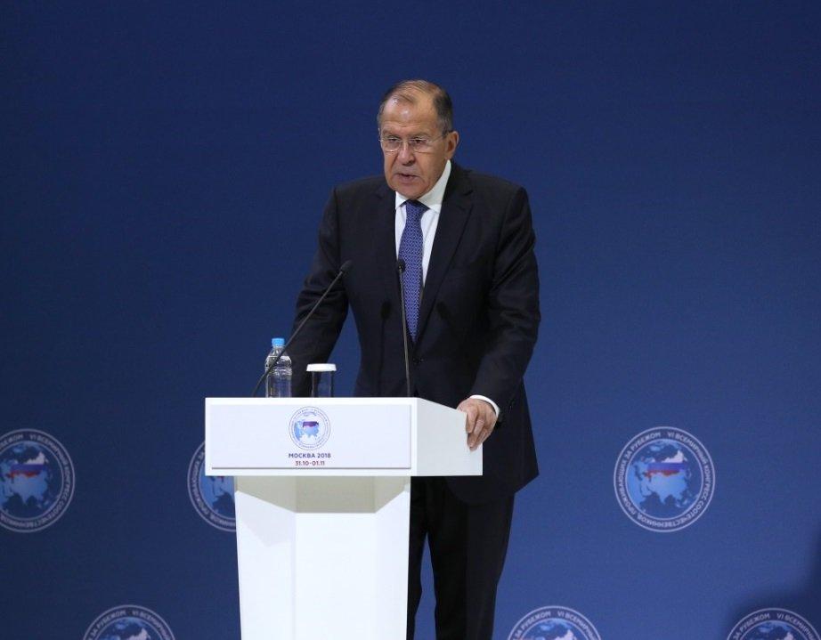Выступление Сергея Лаврова на VI Всемирном конгрессе соотечественников