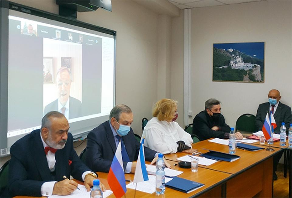 2 ноября 2020 г. в очно-дистанционном формате состоялась V Отчетно- выборная конференция Международного совета российских соотечественников